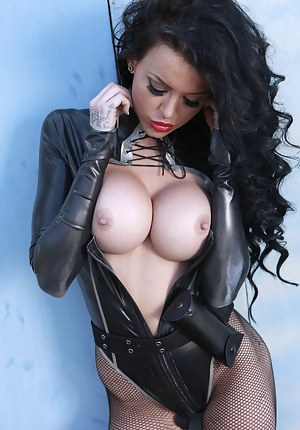 Big Tits Leather Porn Pictures